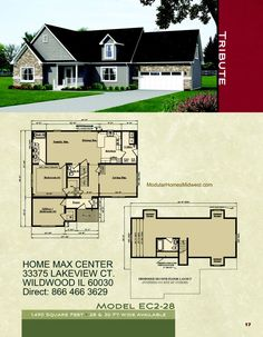 Pulte homes floor plans include a flow from kitchen to for Midwest living house plans