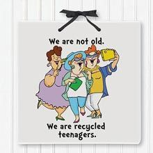 Buy Teenagers Plaque from The Paragon! Your online source for best quality gifts, dresses and more. Receive a FREE copy of our catalog! Birthday Cards For Girlfriend, Girlfriend Humor, Birthday Images Funny, Funny Birthday, Getting Older Humor, Hug Pictures, Old Lady Humor, Thinking Of You Quotes, Funny Women Quotes