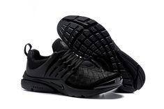 timeless design 1a14f 6230b Mens Womens Nike Air Presto Running Shoes SE Woven Triple Black 848186 001  848186-001