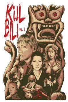 """Kill Bill Vol. by Steven Holliday - Hero Complex Gallery Kill Bill Movie, Kill Bill Vol 1, Screen Print Poster, Cinema Posters, Alternative Movie Posters, Movie Poster Art, Great Films, Love Movie, Quentin Tarantino"