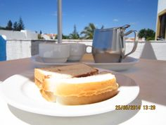 holiday in Portugal....a cup of tea and a slice of bread