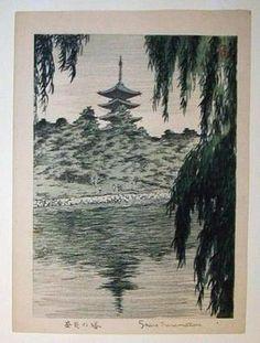 Not dated - Kasamatsu, Shiro - Pagoda at Nara