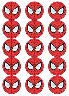 SPIDERMAN FACE V1 EDIBLE WAFER PAPER CUPCAKE POP CAKE MUFFIN TOPPERS in | eBay Superman Birthday Party, Superhero Party, Birthday Parties, Spiderman Face, Spiderman Spider, Grandparents Day Crafts, Paper Cupcake, Wafer Paper, Man Party