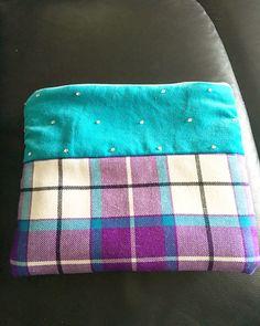 Bonnie Aqua & Violet IPad case by Highland World. Ipad Case, Tartan, Zip Around Wallet, Coin Purse, Aqua, Velvet, Dancing, Water, Dance