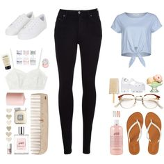 casual by picalga on Polyvore featuring Sparkz, Citizens of Humanity, Topshop, Aéropostale, Candela, Jeffrey Campbell, Forever 21, RetroSuperFuture, Benefit and Sephora Collection