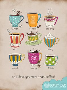 I Love You More Than Coffee/Kitchen Art. Estera. LoVeLyLoVe1