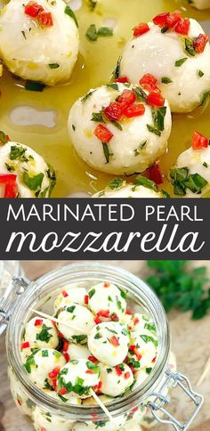 Cherry Bocconcini Balls with Chilli · Chef Not Required… Mini Marinated Mozzarella Cheese Balls – smooth, milky pearl mozzarella balls (cherry bocconcini) that have been marinated in chilli, lemon and fresh herbs. Mozzarella Pearls, Fresh Mozzarella, Quick Appetizers, Appetizer Recipes, Dinner Recipes, Mozzarella Balls Recipe, Healthy Potatoes, Pesto Pasta Salad, Appetizers