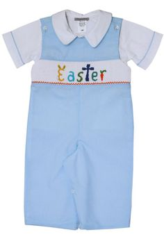 Boys Hand Smocked Easter Longall