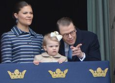 Noblessee & Royautés:  Birthday of King Carl Gustaf of Sweden, April 30, 2014-Crown Princess Victoria, Princess Estelle and Prince Daniel