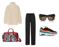"""""""Cocaine all round my brain"""" by babemagnet ❤ liked on Polyvore featuring Helmut Lang, Chloé, NIKE, Gucci and Le Specs"""