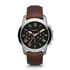 Fossil - Grant - Black face with brown band - Yeah, buying this one!