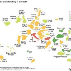 "What Country has the Most Unsustainable Debt? ➖ ""When a country experiences slower economic growth, the government receives less in tax revenue and therefore has to borrow money to keep up the delivery of essential services. Any funds borrowed accumulate as public debt, and will eventually have to be repaid. This debt is not necessarily a bad thing — in fact it's quite normal for a country to raise debt — but excessive debt could put a country's future economic wellbeing at risk if the…"