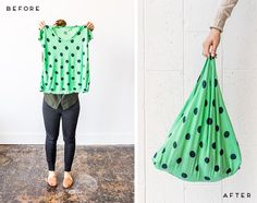 Bag Hag: How to Make Upcycled Grocery Totes with Old T-Shirts (in 5 Minutes) - Paper and Stitch