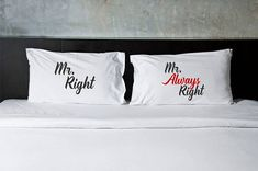 Gift for gay couples Mr and Mr gifts gay wedding gift gay lesbian wedding Mr Always Right Mrs Always Right custom pillowcase pillow case
