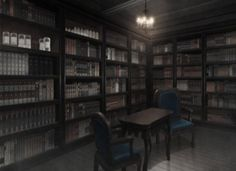 Library, Background, Anime Background, Anime Scenery, Visual Novel Scenery…