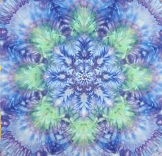 Tie dye tapestry in blue and green. Handmade boho artwork. Great gift for they hippie in your life! #tiedye #tapestry #blue #green #psychedelic #trippy #boho #hippy #gratefuldead
