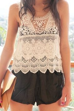 http://fashion881.blogspot.com - lace tops are the it item this summer