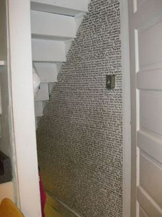 An entire chapter of Harry Potter written under the stairs.    Truebluemeandyou: A first - featured in LIT and DIY? I like this because it's quirky. I reblogged it eventhough I could find absolutely no source (pinterest? really?).