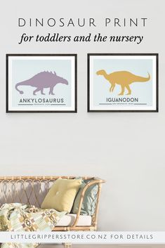 Choose a Dinosaur print set from a choice of sixteen different Dinosaurs prints. These bright modern prints make the perfect wall art for kids who know all the facts about their favourite prehistoric animals. Toddler Room Decor, Nursery Room Decor, Nursery Prints, Nursery Ideas, Room Ideas, Bedroom Decor, Dinosaur Posters, Dinosaur Prints, Little Boys Rooms