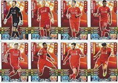 Match Attax 2015/2016 Liverpool Team Base Set Plus Star Player, Captain & Away Kit Cards 15/16 #lfc #liverpool