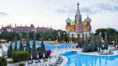 When Turkish conglomerate MNG Holding built the Kremlin Palace Hotel in beachfront Antalya in its aim was to make Russian tourists feel at Top Hotels, Hotels And Resorts, Best Hotels, Top Destinations, Holiday Destinations, Kremlin Palace, Turkey Hotels, Continents And Countries, Europe Continent
