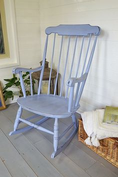 Distressed And Refinished Rocking Chair Painted In Ascp