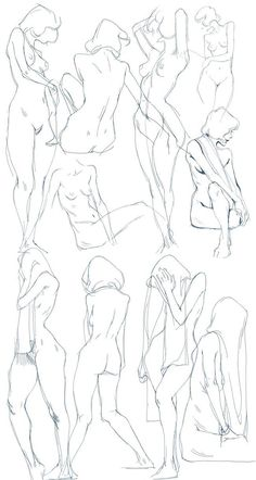 Female body pose references by Ying Chen‏