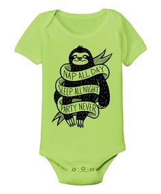Look what I found on #zulily! Key Lime 'Nap All Day' Bodysuit - Infant by KidTeeZ #zulilyfinds