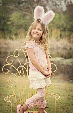 Lacy Bunny CollectionLace Top, Leggings, Shorts & Bunny Ears Available!
