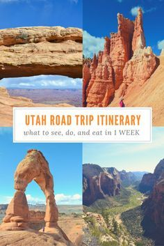 Heading on a Utah Road Trip soon?  The National Parks in Utah are absolutely amazing!  WONDERFUL PIN >> going to save this for my road trip planning later!