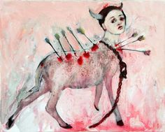 Penny Siopis Slings and arrows 2007 oil and glue on canvas 20 x Art Syllabus, Postmodern Art, South African Artists, Africa Art, Diabolik, 2d Art, African History, Figurative Art, Dark Art