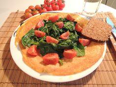 Omelett med spinat