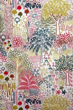 liberty jungle print by PrincessTina Textile Patterns, Textile Prints, Textile Design, Print Patterns, Art Prints, Textiles, Surface Pattern Design, Pattern Art, Illustrations