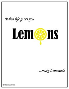 8x10 Inspirational Art  Lemons Life by ByGraceDesignsStudio, $10.00 #pcfteam