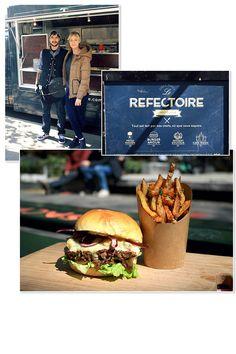 La recette du  fifi , le burger du food truck Le Réfectoire