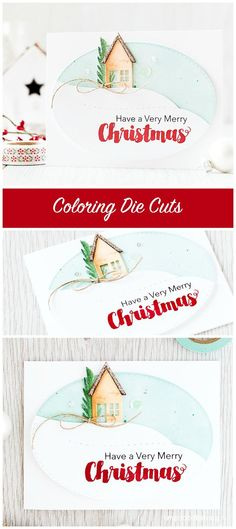 Coloring die cuts - you don't need to have a stamp to match your die cut; coloring them directly gives a soft natural look. To find out more please click the following link: http://limedoodledesign.com/2015/09/coloring-die-cuts/