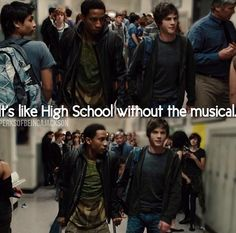 ... so it's like every single high school in the united states NOT on Disney channel...right. Got it grover. This movie hurts me