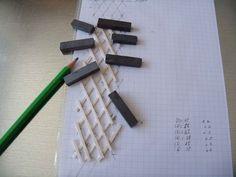 Treillis mural pour plantes grimpantes     Sur un morceau de papier quadrillé, dessiner le treillis.  Mesurez les différents éléments et é...