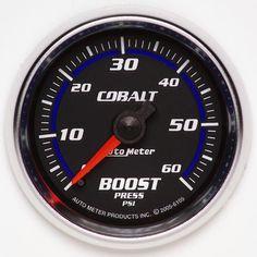 Autometer Cobalt 52mm 0-60psi Mechanical Boost Gauge