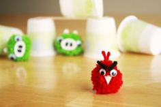 Dang, I had this idea before I saw the post. With my giant pom pom makers, mine will be more awesome- and angry.