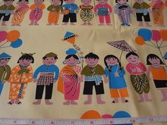 handprinted cotton fabric by EmilyMe