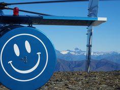 Smiling on Mt Aspiring from the Pisa Range landing spot.