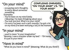 """hellolearnenglishwithantriparto: """" Expressions with MIND #learnenglish """""""