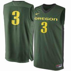 Oregon Ducks Nike #3 Replica Master Jersey - Green