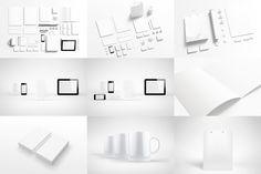 Branding elements mock-ups by itembridge creative store on Creative Market