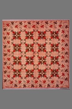 Quilt, Pineapple pattern Maker: Ann Downing Hegeman Date: ca. 1865 Geography: Made in Glen Head, New York, United States. Medium: Cotton.  Dimensions: 93 x 91 in. (236.2 x 231.1 cm)