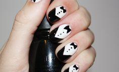 Tuxedo nails  so dressy!