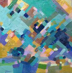 """Bitmap"" Acrylic on birch panel. 12 x 12."