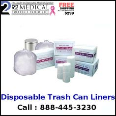 Purchase top quality disposable trash can liners online at most reduced cost from R2Medical. 100% fulfillment ensured, free sending and 30 Day simple return.  http://r2medical.com/collections/trash-can-liners