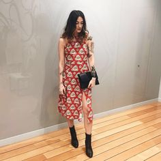 High necks and slinky fits give the midi dress a new lease of life this season. Go for a chic bodycon or team belted utility shapes with chunky sole sandals or a pair of leather boots. #Topshop